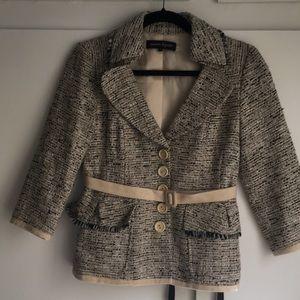 Nanette Lepore tweed belted blazer